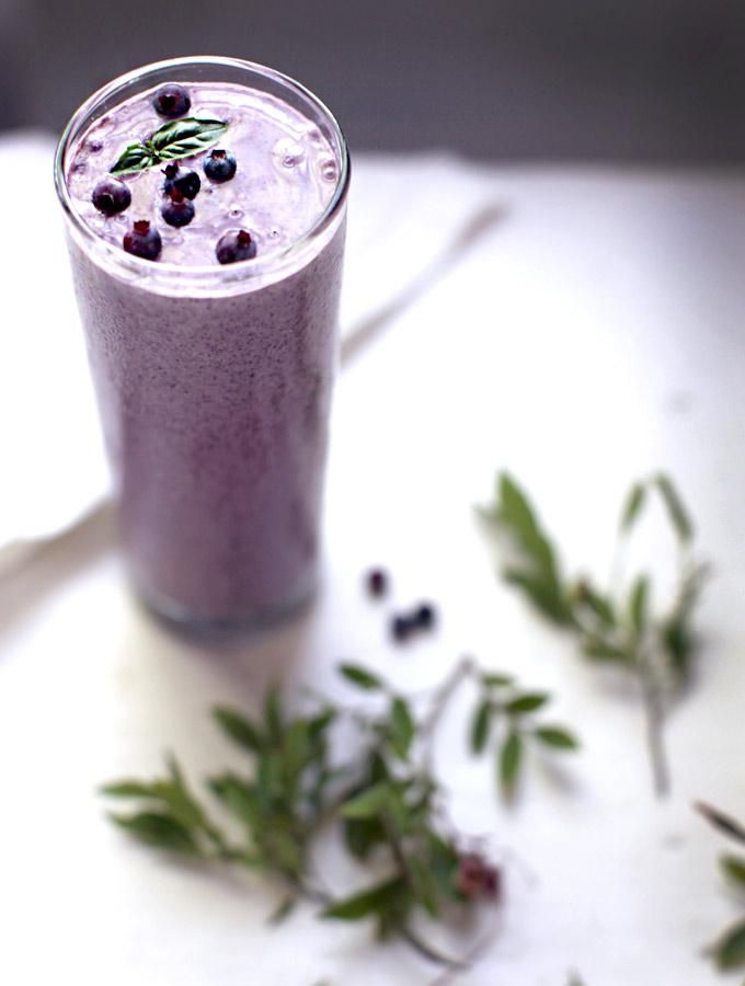 Blueberry Basil Smoothie   Soy-free Protein Smoothie Boosts / My New Roots