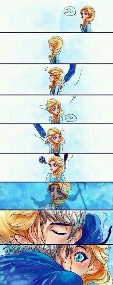 La Reina Elsa y Jack Frost