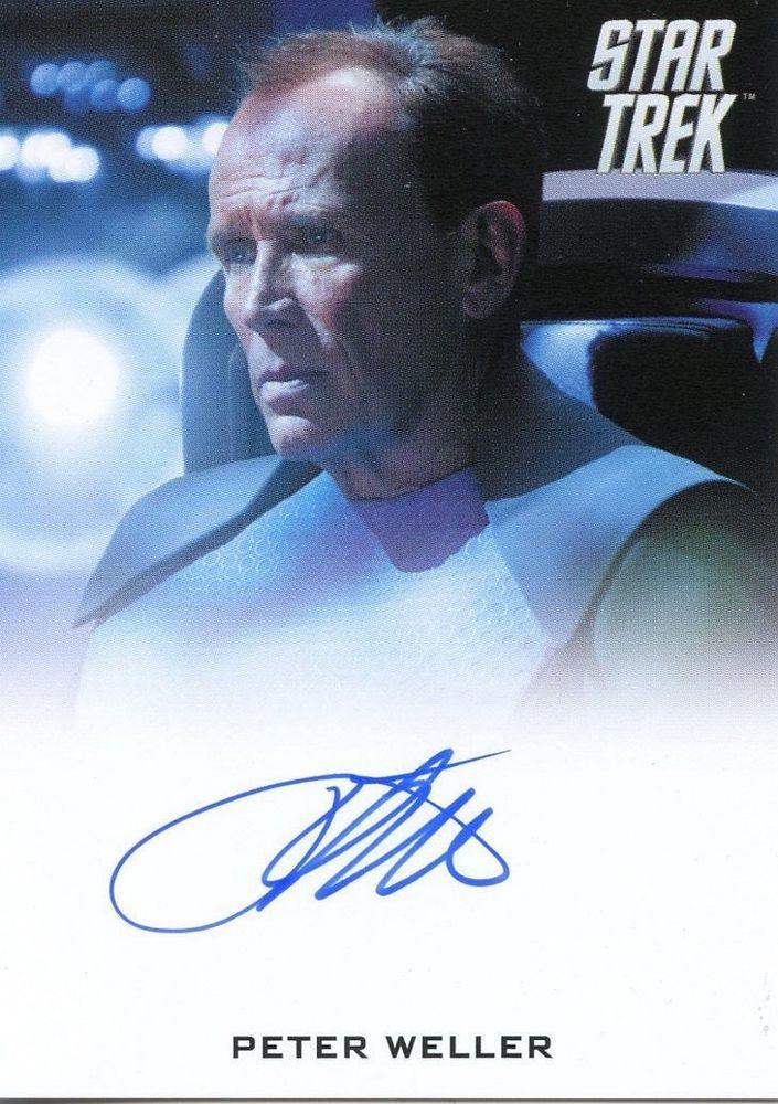 STAR TREK Movie Into Darkness 2014 Autograph Card Peter Weller Marcus