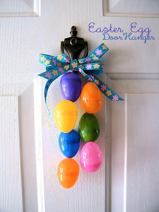 Easter Egg Door Hanger #Easter #craft #decoration