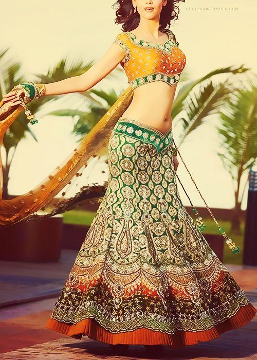 My edit of a beautiful bridal lehenga choli.