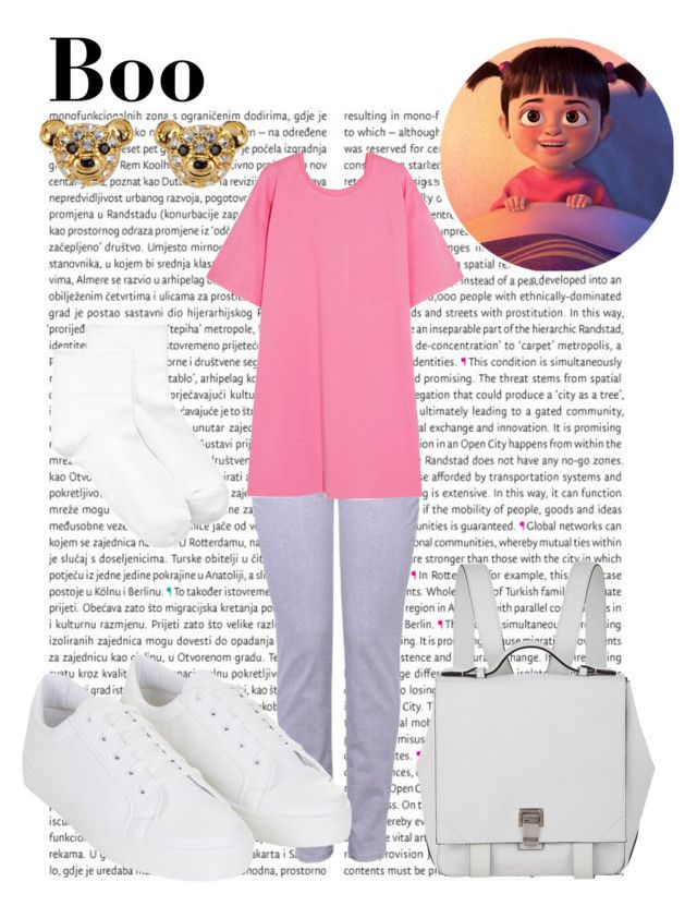 """""""Boo"""" by wonderlandofgeeks ❤ liked on Polyvore featuring Oris, NYDJ, Moschino, Topshop, Proenza Schouler, HUE, Betsey Johnson, disney, Boo and monstersinc"""