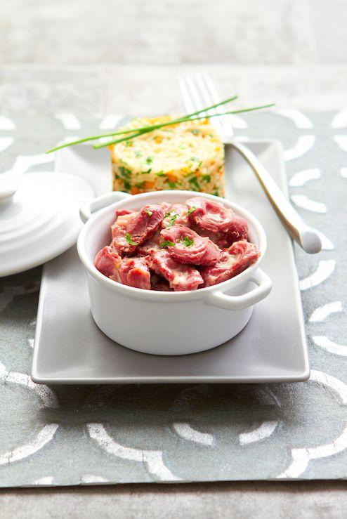 Suggestion de présentation #Feyel : #cassolette aux #gésiers de canard confits et son #risotto aux #légumes. Autres #recettes, #suggestion de présentation et astuces de nos #chefs sur www.feyel.com