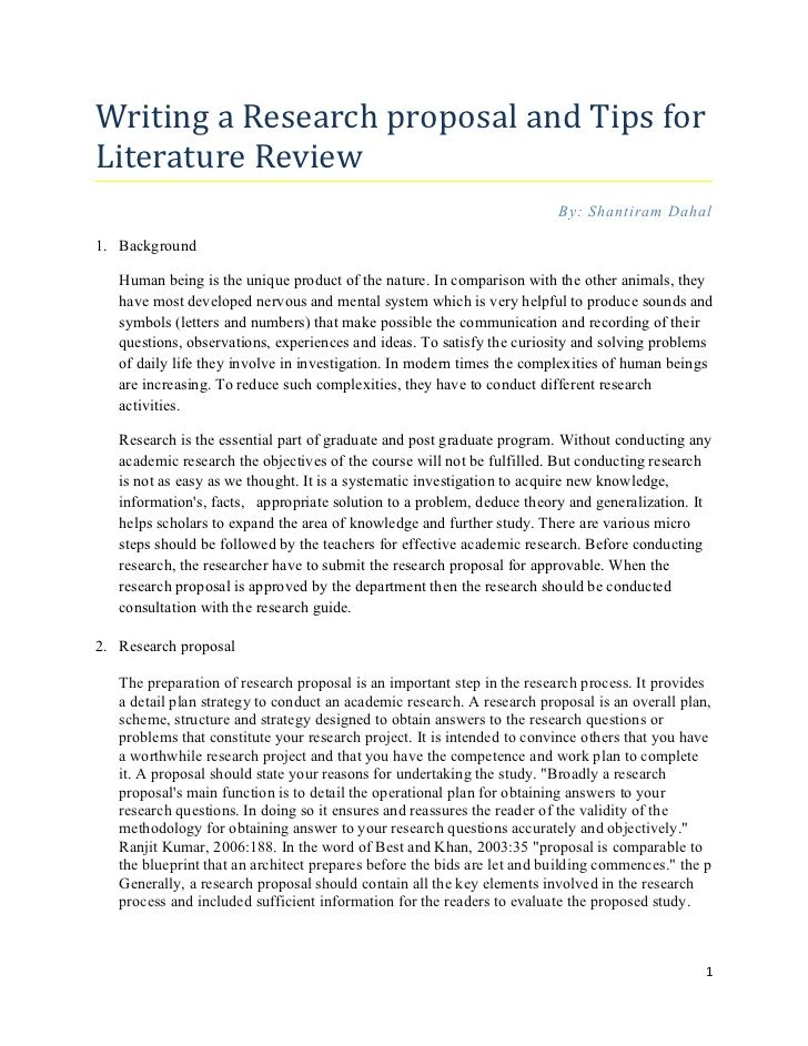 Research proposal: Tips for writing literature review