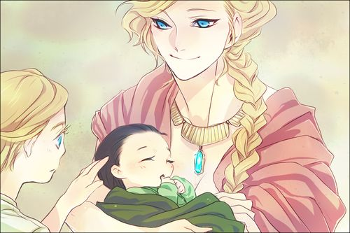 """""""Yes, Thor, my darling...this is your little brother. He is Loki and he is yours to love, to protect, and to remember for your eternity."""" <---Yeah, so I'll just be over here crying because this is simultaneously sad and sweet"""