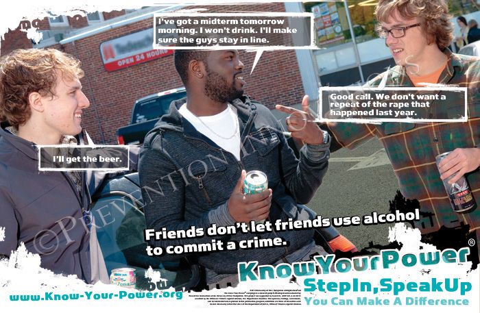 Guy talk. Know Your Power Campaign (Speak Up As a Bystander). University of New Hampshire (2011)