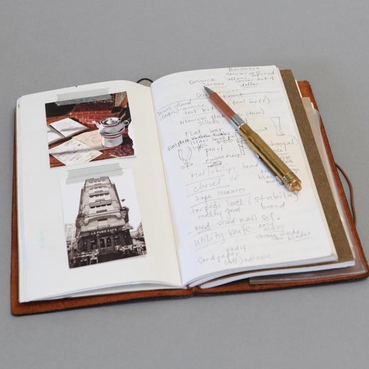 midori travelers notebook open 2