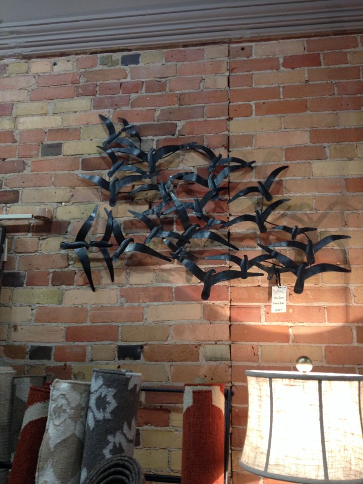 This 'Flock of Birds' piece is very popular amongst Clerkson's customers.  It's so cool! #walldecor #homedecor #birds