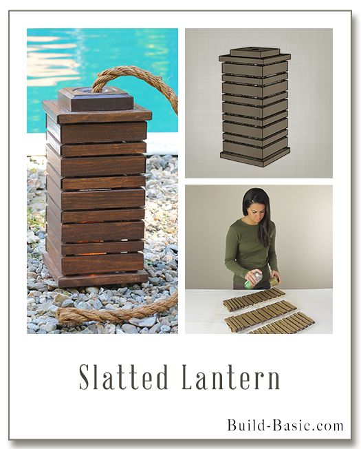 Build this simple DIY SLATTED LANTERN with free plans and step-by-step photos by @BuildBasic www.build-basic.com #lantern #outdoorlighting #woodworking #diylantern #diyoutdoorlighting #freeplans #buildingplans #buildbasic
