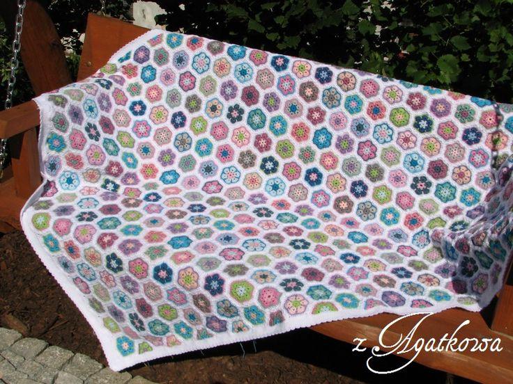 African flower blanket - Koc z afrykańskich kwiatów