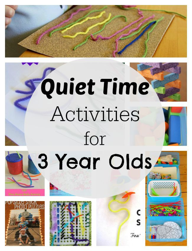 Simple quiet time activities for 3 year olds! Love that they are mess free too.