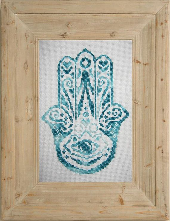 Hamsa Hand Cross Stitch pattern