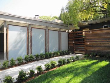 Glass panels, Fence and Mid-century modern on Pinterest