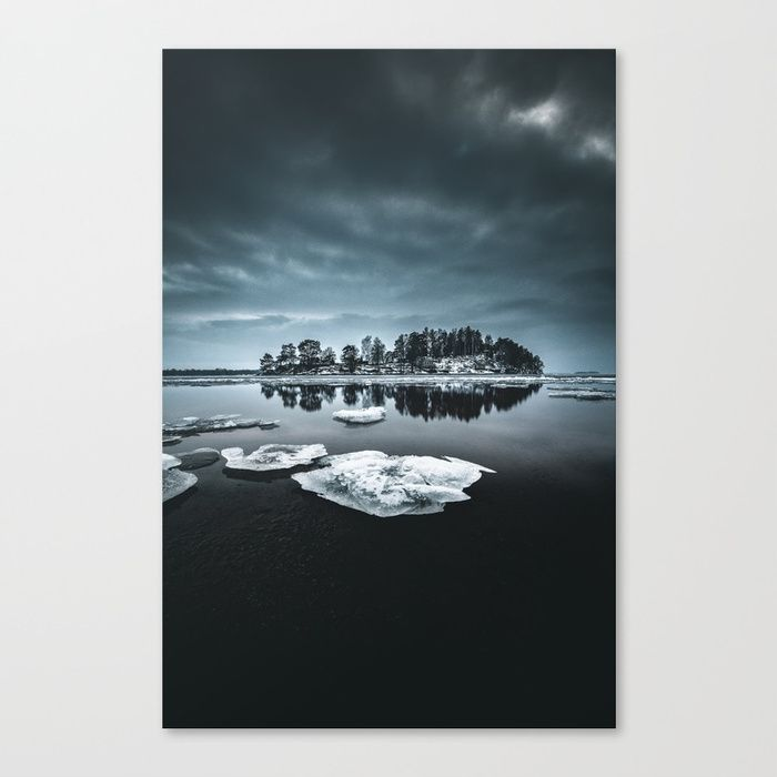 Only pieces left Canvas Print by HappyMelvin. #naturephotography #winter #ice #fineart #photography #wallart #canvasprint
