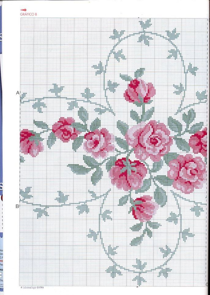 Simple pink embroidery and flowers grills & amp;  tutorials
