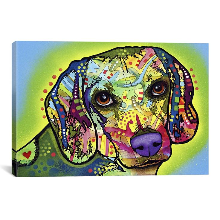 iCanvasART Beagle by Dean Russo Canvas Art Print, 40 by 26-Inch