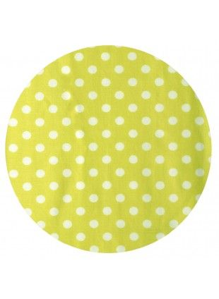 Lime Polka Fitted Cot Sheet