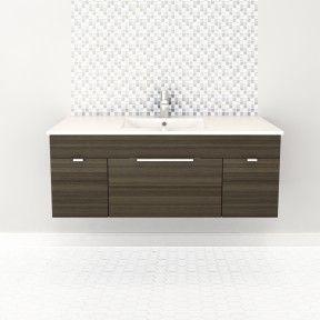 48″ 2 door/ 1 Drawer Floating Vanity   #bathroom #vanity #design #homedecor #interiordesign #lightwood #lightcabinets #renovations #textures #Cutler #CutlerKitchenandBath
