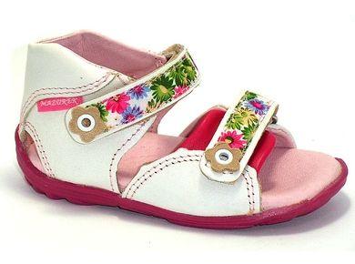 ›Letnie/Sandały›MAZUREK 309 biały kwiatki›Buciki dla dzieci : buty dziecięce Bartek - sklep internetowy