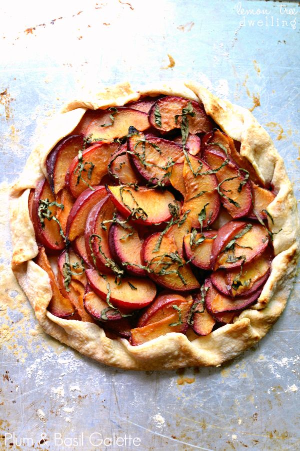 Plum & Basil Galette - deliciously simple!|LemonTreeDwelling