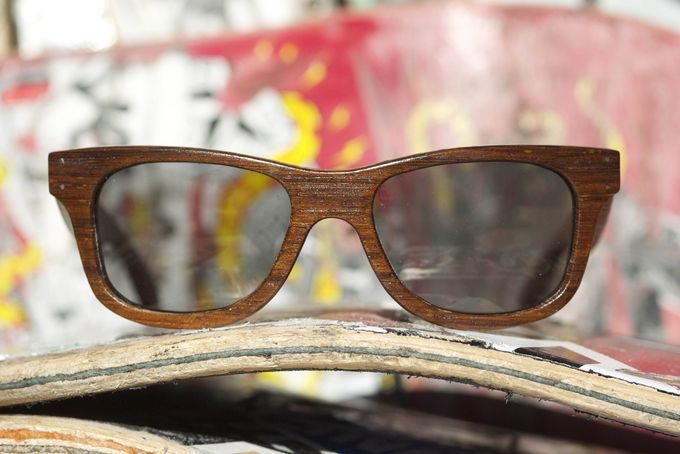 Crail - Panga Panga/Sk8 - Skateboard/Hardwood sunglasses by Sk8shades on hellopretty.co.za