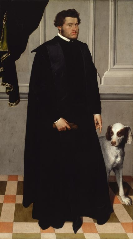 Giovanni Battista Moroni  Italian, 1520/24-1578 - Portrait of a Gentleman with his Dog