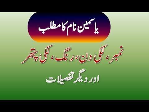Yasmeen Name Meaning in Urdu | Yasmeen Naam ka Matlab
