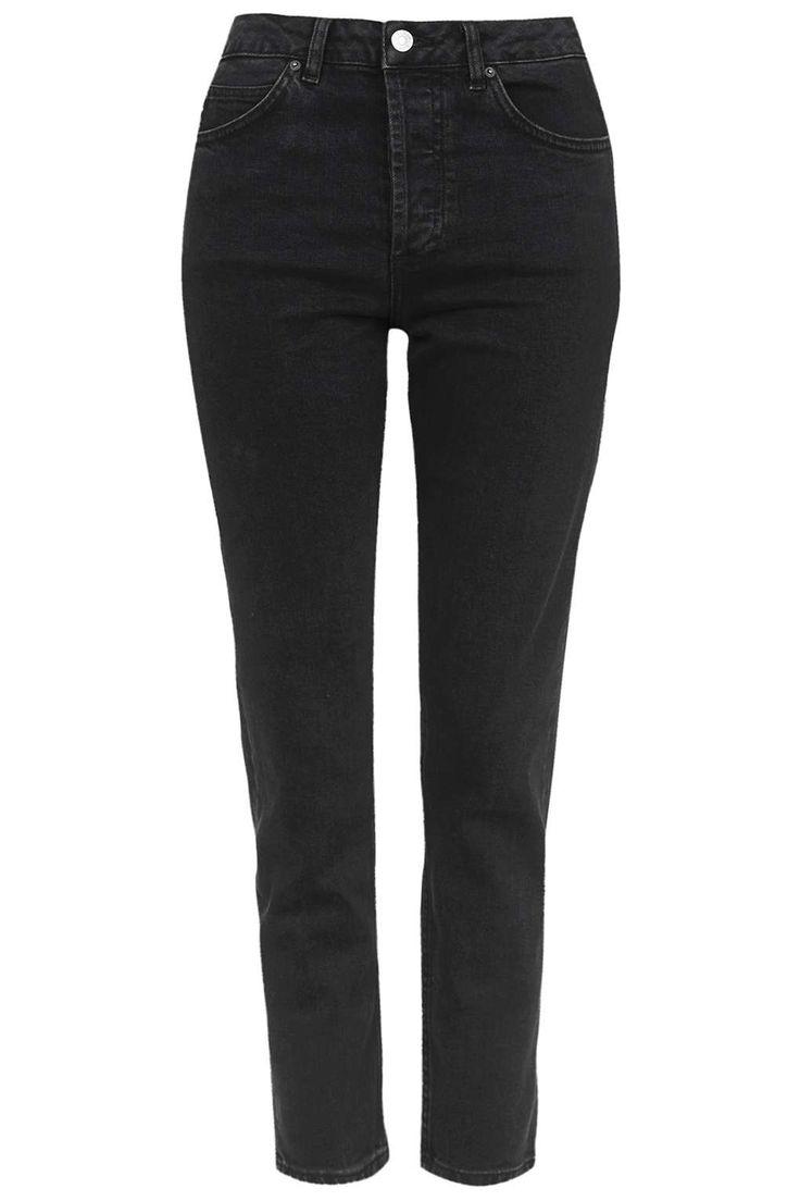 Znalezione obrazy dla zapytania black straight leg jeans