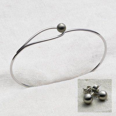 Yggdrasil - Armband + Örhängen Matt Stål