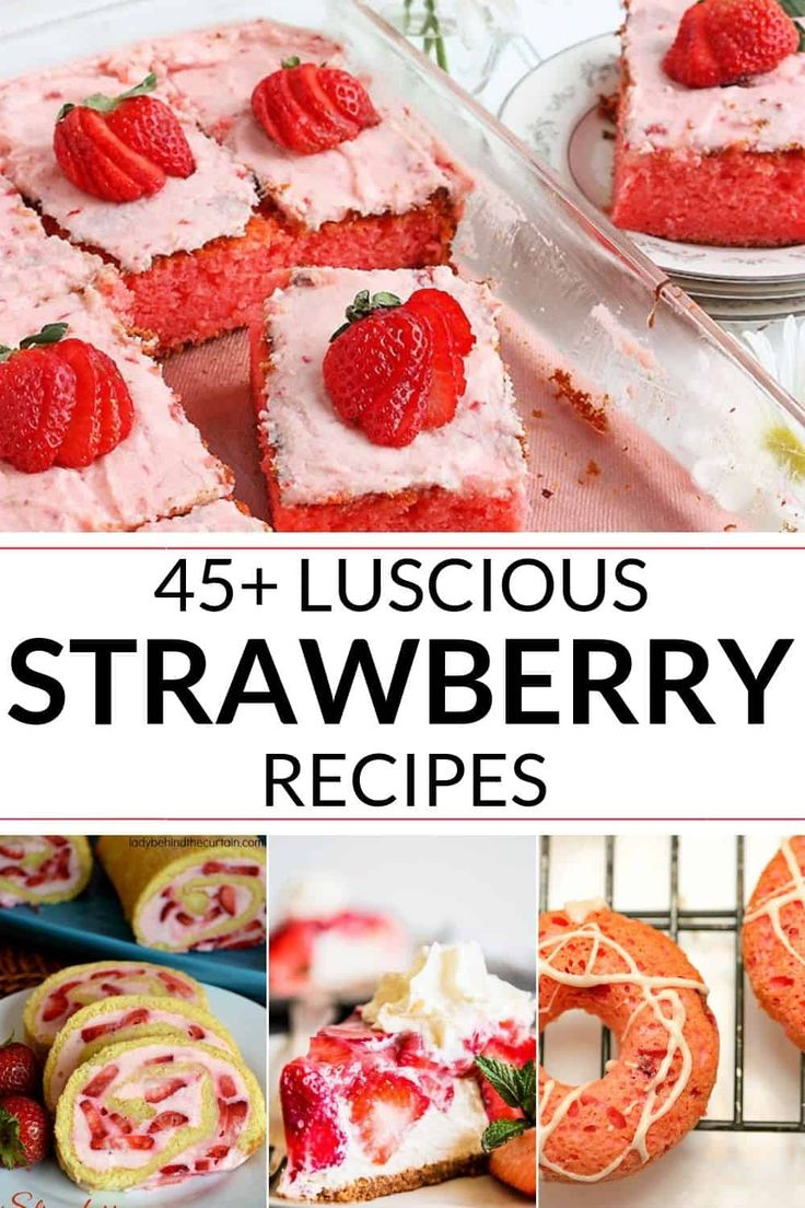 These delicious recipes with strawberries are a lu…