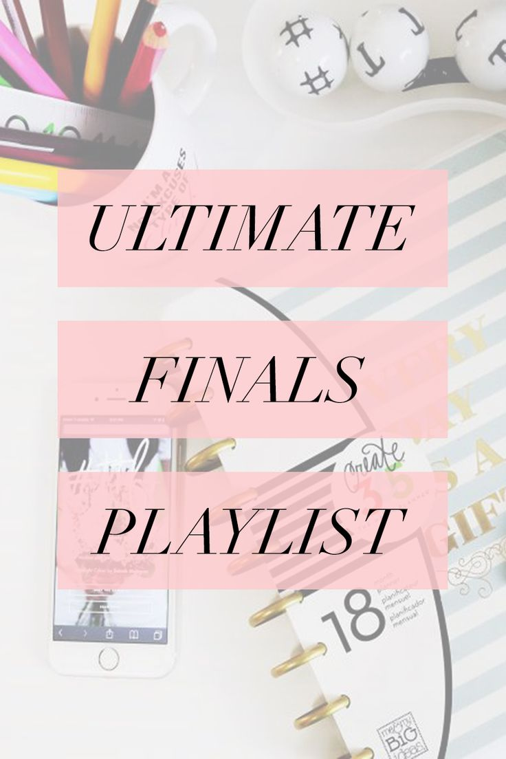 The perfect playlist to get you through those finals week study sessions! #college #playlist #finals