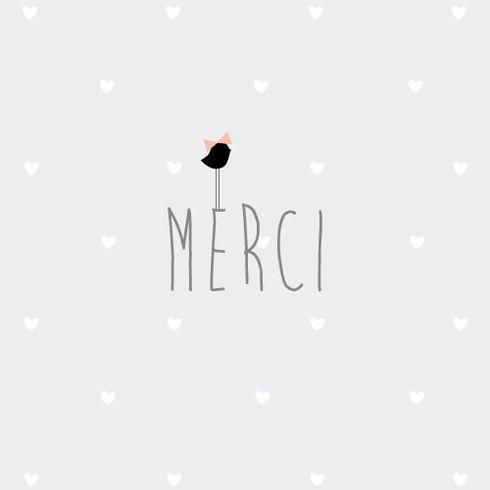 Carte de remerciement naissance Merci Bucolique by Marie Pertriaux pour www.fairepartnaissance.fr