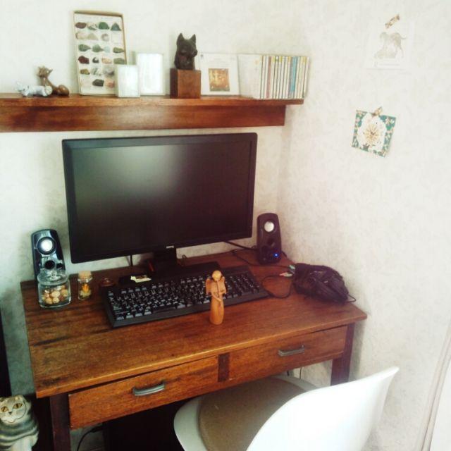 PCデスク周り/飾り棚/壁に付けられる家具/無印良品/雑貨/My Desk…などのインテリア実例 - 2015-02-02 00:15:57 | RoomClip(ルームクリップ)