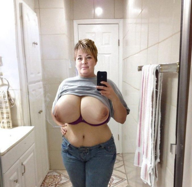 Mom tits big chubby with