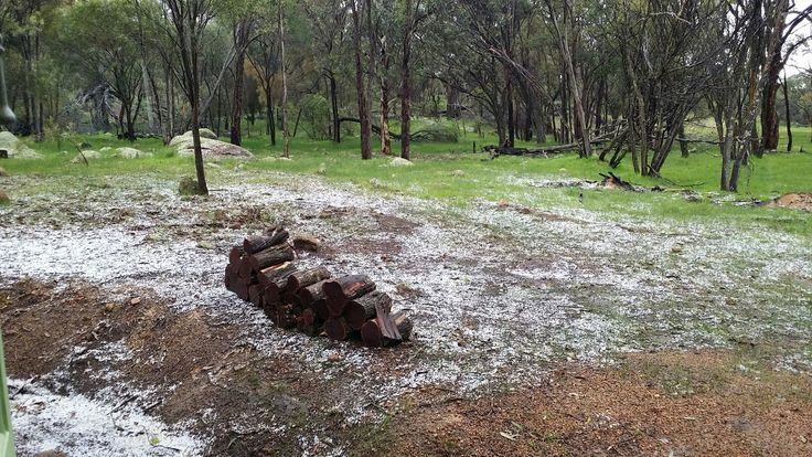 Hailstorm on a winters day