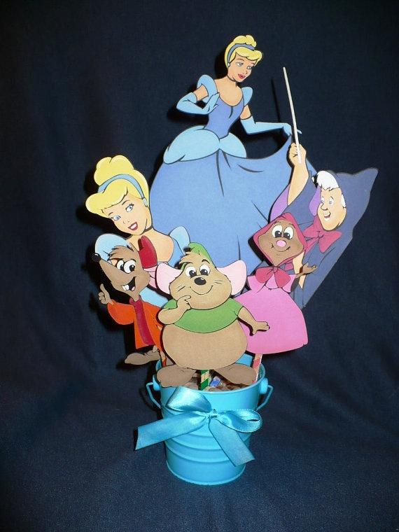 Cinderella Centerpiece Disney Princess Birthday or by CSCuteCrafts, $25.00