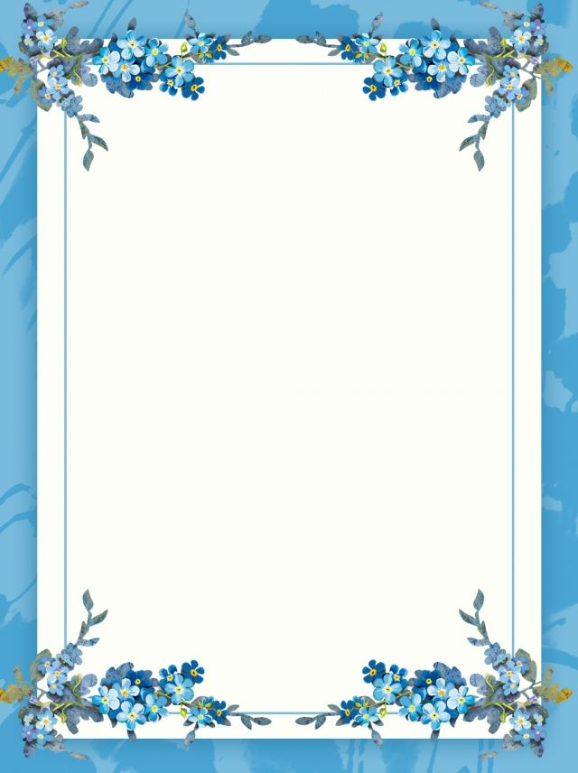 Creative Literary Border Floral Background In 2019 Flower