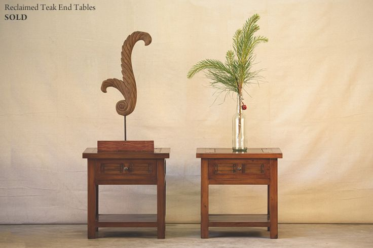 Hunt and Lane | a top shelf furniture company | Reclaimed Teak End Tables | Wood | Java Indonesia | tropical living | organic, sustainable furnishings and interiors for your home.