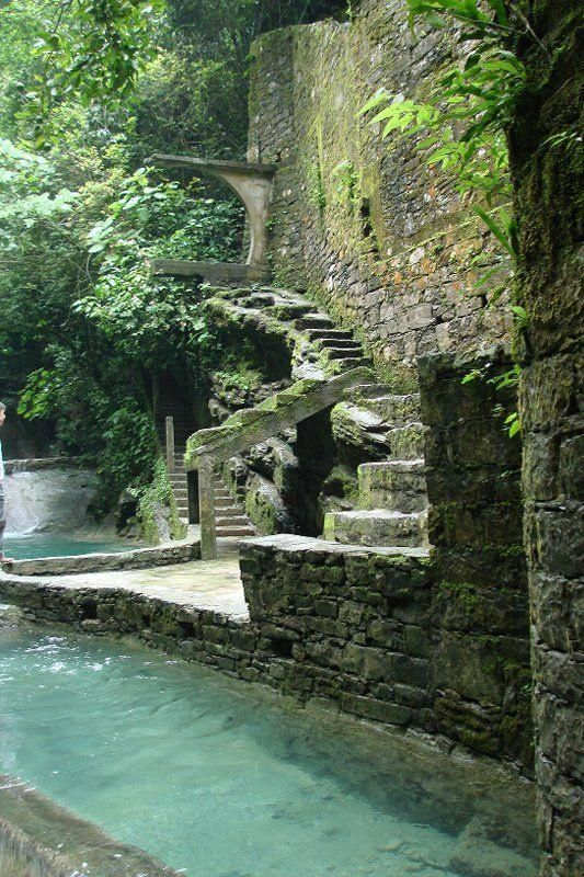 LAS POZAS, XILITLA, MEXICO -- This destination certainly goes beyond the more popular Mexican tourist spots. In the town you'll find Las Pozas, a surreal garden built in the middle of a jungle. Surround yourself with spiral staircases leading to nowhere, stunning waterfalls and surrealist statues.