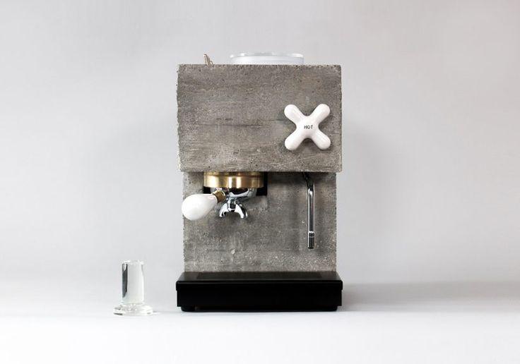 anza espresso machine by studio montaag is a brutalist centerpiece