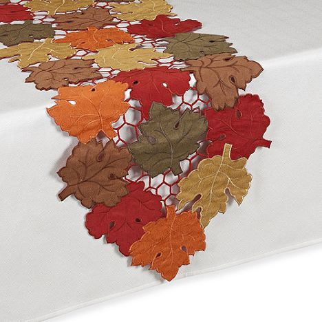Scattered Leaves Harvest 70-Inch Table Runner $24 PICK UP (RED BANK, NJ) OR WE'LL SHIP FREE - INCLUDES NORTON SHOPPER PROTECTION & LOWEST PRICE ANYWHERE GUARANTEE: PURCHASE HERE: http://beachhippiehome.mybigcommerce.com/scattered-leaves-harvest-70-inch-table-runner-24/