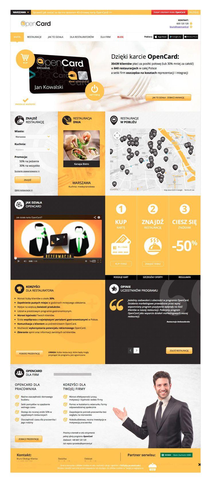 OpenCard to szybko rozwijający się program typu Diners Club. Dla marki przygotowaliśmy strategię komunikacji oraz opracowaliśmy nową odsłonę serwisu