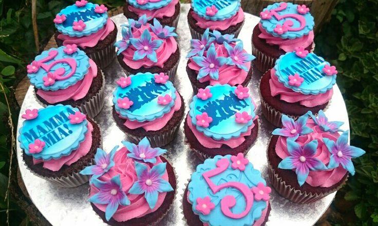 Mama Mia cupcakes. Stunning colours and very flowery  #mamamia #mamamiacupcakes #mamamiatheme #EmilysCakes #emilyscakessa #bestcupcakesinjhb #bestcupcakesintown #cupcakes #cutecupcakes #beautifulcupcakes
