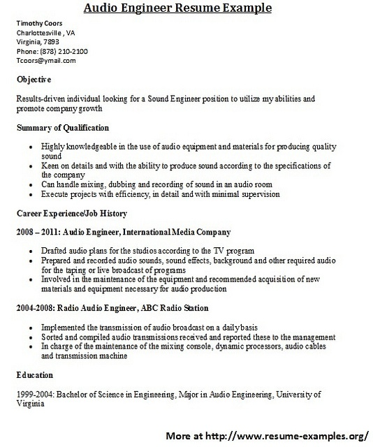 Examples Of Resumes And Cover Letters | Resume Examples And Free