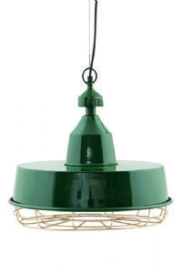 Bugsy Industrial Green Metal Pendant Light