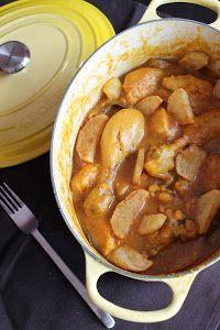 guiso o asaillo de pollo al vino de mi abuela con patatas