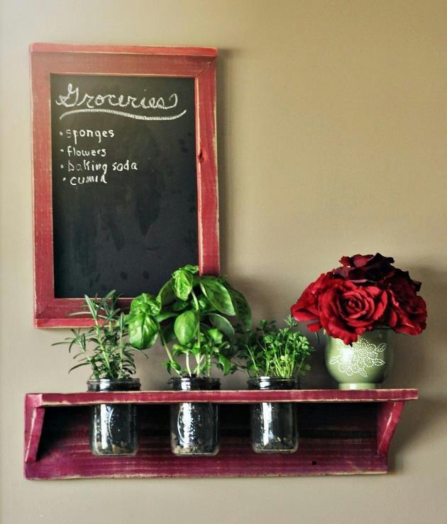 Indoor herb garden shelf....looks easy. probably isnt