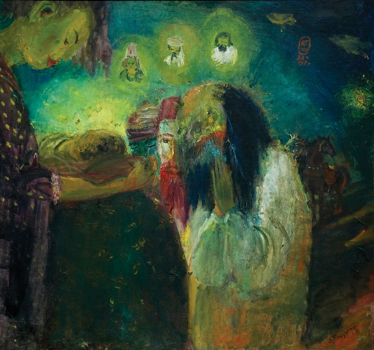 S Sudjojono (1914 - 1986) - Tiga orang majus (sold for $ 92,359)