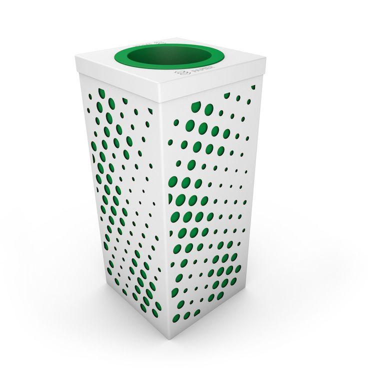 Tourbillon Poubelle design pour bureau, Blanc