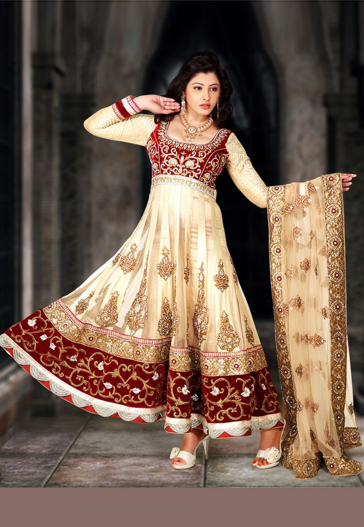 India Online Internet Use In India And The Development Of: Beige Pure Satin, Net And Velvet Readymade Anarkali